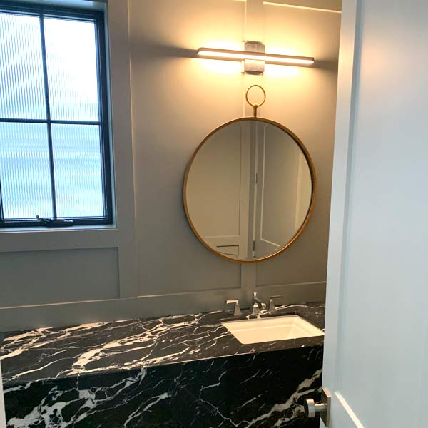 Paneled Powder Room image