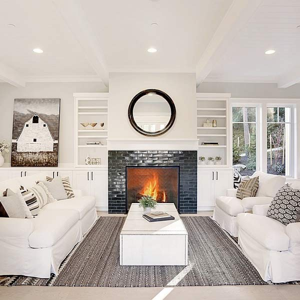 Family Room w/ Fireplace image